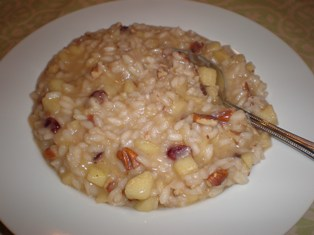 Apple, Cranberry and Walnut Risotto