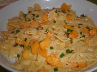 Pasta with Fresh Apricot Sauce