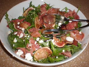 Arugula, Fig, and Prosciutto Salad