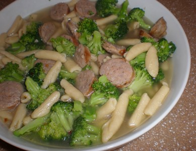 Cavatelli with Broccoli and Grilled Italian Sausage