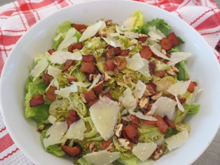 Brussels Sprouts Salad with Bacon Vinaigrette