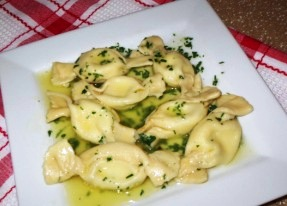 Caramelle cooked wth butter and herb sauce