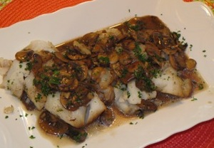 Cod with Mushrooms