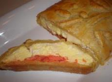 Eggs and Smoked Salmon in Puff Pastry