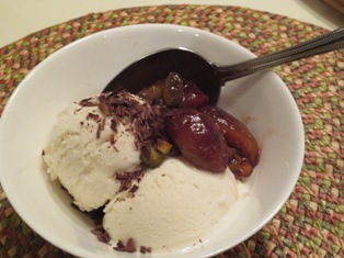 Baked Figs with Vanilla Gelato