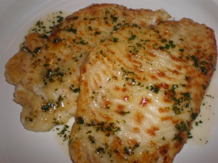 Flounder with Lemon Butter Sauce