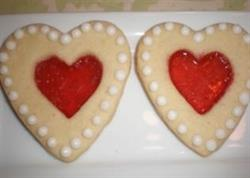 Stained glass cookies for a bridal shower or anniversary party