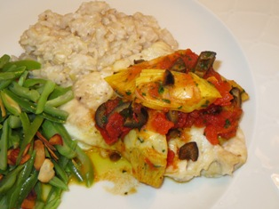 Grouper with Tomato-Saffron Sauce