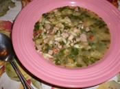 Ham, Bean, and Spinach Soup