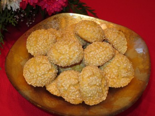 Honey-Sesame Cookies