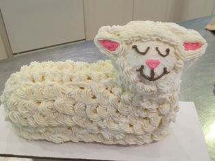 Lamb Cake with Wool Added
