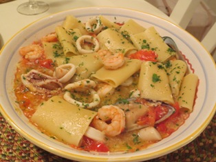 Paccheri with Seafood Medley