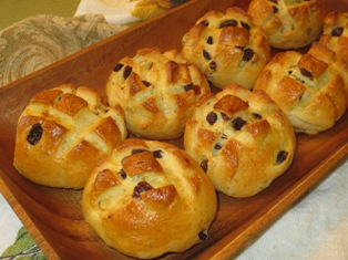 Pan di Ramerino - Tuscan Rosemary and Raisin Buns