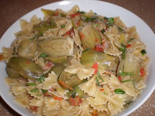 Pasta with Baby Artichokes