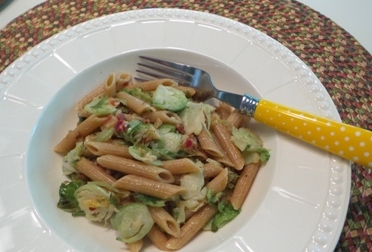 Penne with Brussels Sprouts and Pancetta