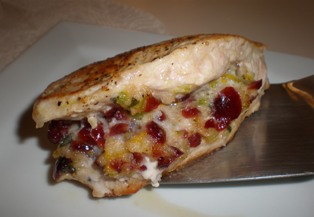 Cranberry-Stuffed Pork Chop