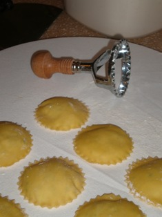 Forming Ravioli With A Stamp