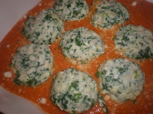 Ricotta and Spinach Dumplings - Malfatti or Ravioli Nudi