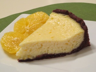 Orange Ricotta Tart With A Chocolate Cinnamon Crust