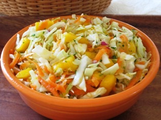 Tropical Cole Slaw with Mango