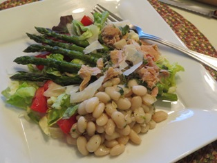 Tuna, Roasted Asparagus and Cannellini Bean Salad