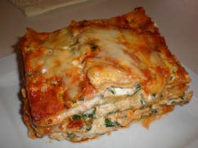 Spinach Lasagna for Two