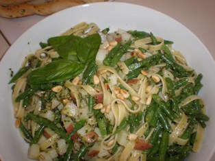 Trenette al Pesto: A traditional pasta dish from Liguria