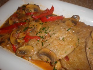 Veal with Mushrooms and Peppers