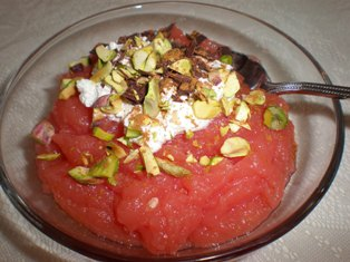 Sicilian Watermelon Pudding